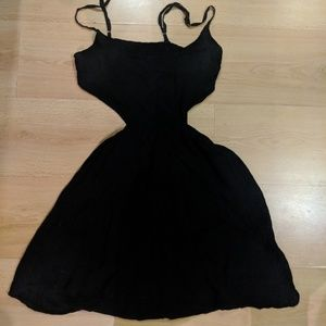 AE black dress with cut outs